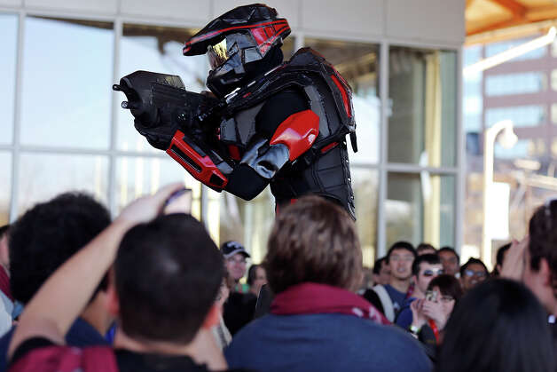 "Connor Sullivan as ""Spartan 119"" from the video game ""Halo"" takes part in the SXSW Gaming cosplay competition at the Palmer Events Center during the South by Southwest Gaming Expo Sunday March 10, 2013 in Austin, TX. Photo: Edward A. Ornelas, San Antonio Express-News / © 2013 San Antonio Express-News"
