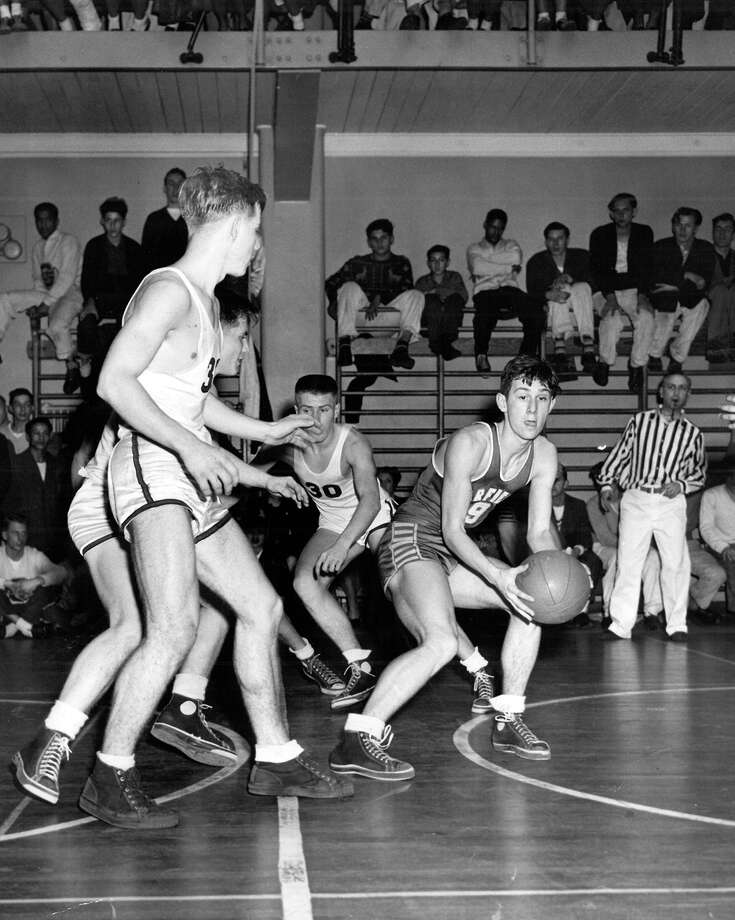 This previously unpublished P-I photo doesn't have information on the game or caption, but indicates it was taken during a high school state basketball tournament on March 18, 1948. Photo: Seattlepi.com File
