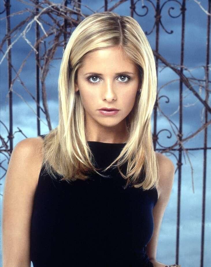 "Mr. Pointy stake used by Sarah Michelle Gellar as Buffy in ""Buffy the Vampire Slayer."" Above, Gellar in the title role. Photo: Getty Images / Getty Images North America"