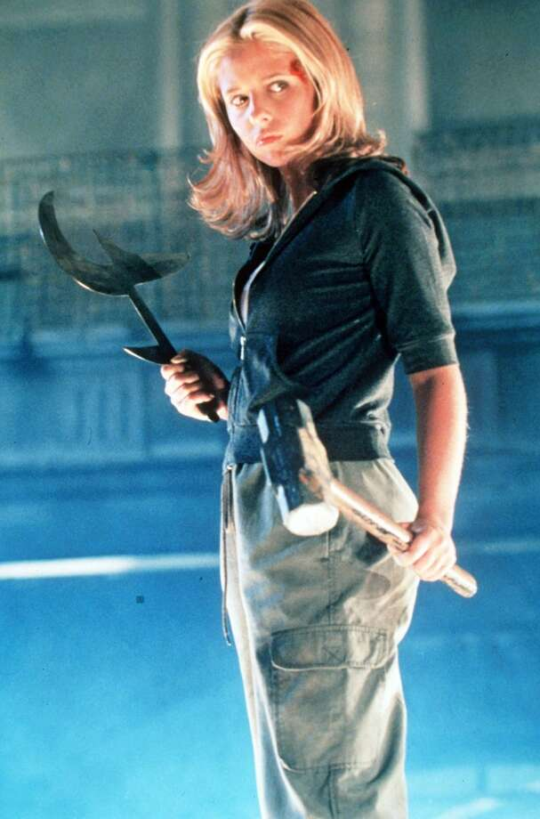 Sarah Michelle Gellar as Buffy Summers, a teen chosen by fate to become a Slayer who must battle and kill vampires, demons and other evil. As the series begins, she moves to Sunnydale, Calif., aka 'the Hellmouth,' a town brimming with really, really bad things. Photo: Warner Bros., Getty Images / Getty Images North America