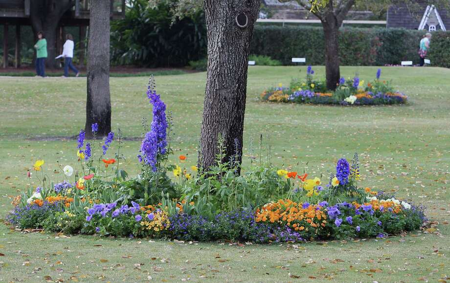 Flowers in the garden of a residence located at 1620 River Oaks Boulevard during the River Oaks Garden Club 78th Annual Azalea Saturday, March 9, 2013, in Houston. Photo: James Nielsen, Houston Chronicle / © 2013  Houston Chronicle