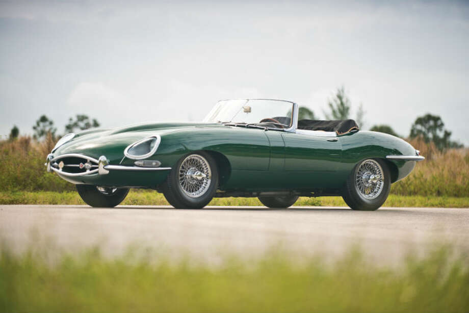 A 1962 Jaguar E-Type Series I sold for $107,250. Photo: Darin Schnabel/RM Auctions Photo: Courtesy Of RM Auctions