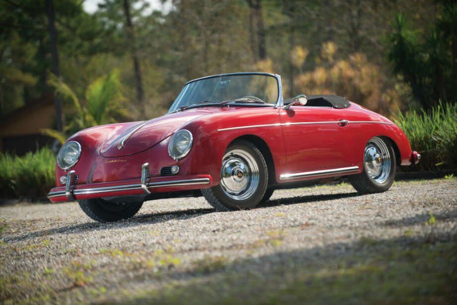 A 1959 Porsche 356A Convertible sold for $170,500. Photo: Darin Schnabel/RM Auctions Photo: Courtesy Of RM Auctions