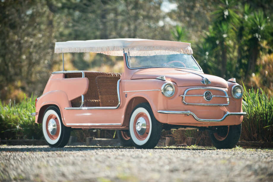A 1958 Fiat 600 Jolly sold for $110,000. Photo: Darin Schnabel/RM Auctions Photo: Courtesy Of RM Auctions