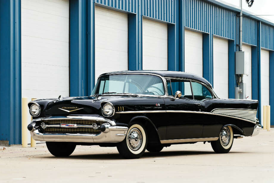 A 1957 Chevrolet Bel Air Sport Coupe sold for $57,750. Photo: Destry Jaimes/RM Auctions Photo: Courtesy Of RM Auctions