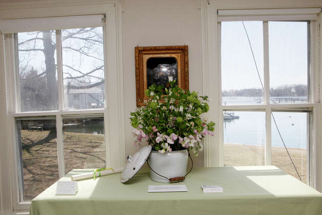 Lauren Herrington's design is displayed at the NGC Small Standard Flower Show at the Pinkney Museum in Rowayton, Conn. on Sunday, March 10, 2013. The Rowayton Gardeners presented the show with arrangements inspired by the Rowayton Historical Society. Photo: BK Angeletti, B.K. Angeletti / Connecticut Post freelance B.K. Angeletti