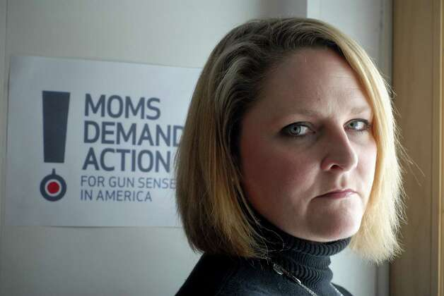 Kara Nelson Baekey with Moms Demand Action for Gun Sense in American at home in Norwalk, Conn. on Friday March 8, 2013. Photo: Dru Nadler / Stamford Advocate Freelance