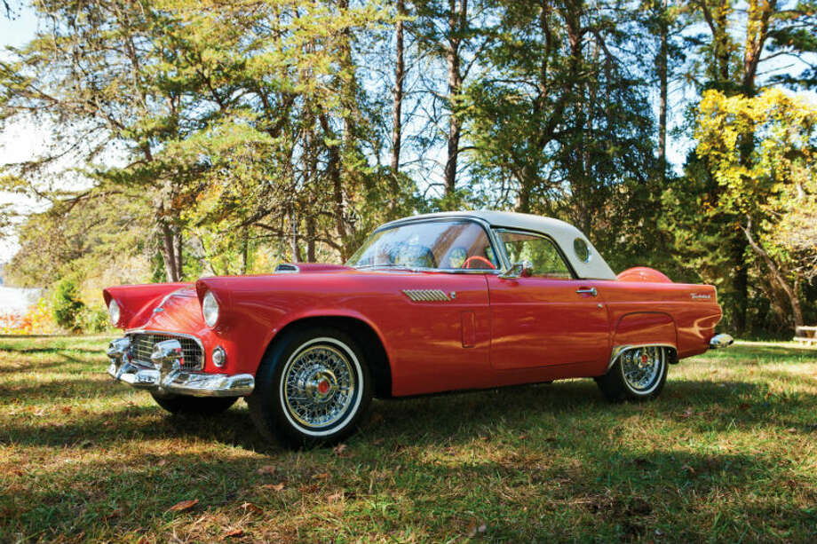 A 1956 Ford Thunderbird sold for $38,500. Photo: James Chiarella/RM Auctions Photo: Courtesy Of RM Auctions