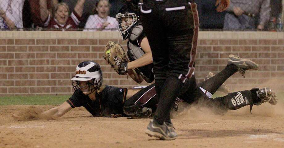 Pearland's Sydney McKay had a stellar week behind the plate. Photo: Thomas B. Shea, For The Chronicle / © 2012 Thomas B. Shea