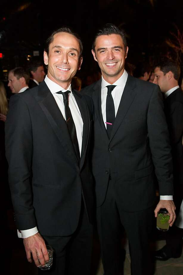 Damian Smith and John Gidding at FAMSF's Mid-Winter Gala on March 09, 2013. Photo: Drew Altizer Photography