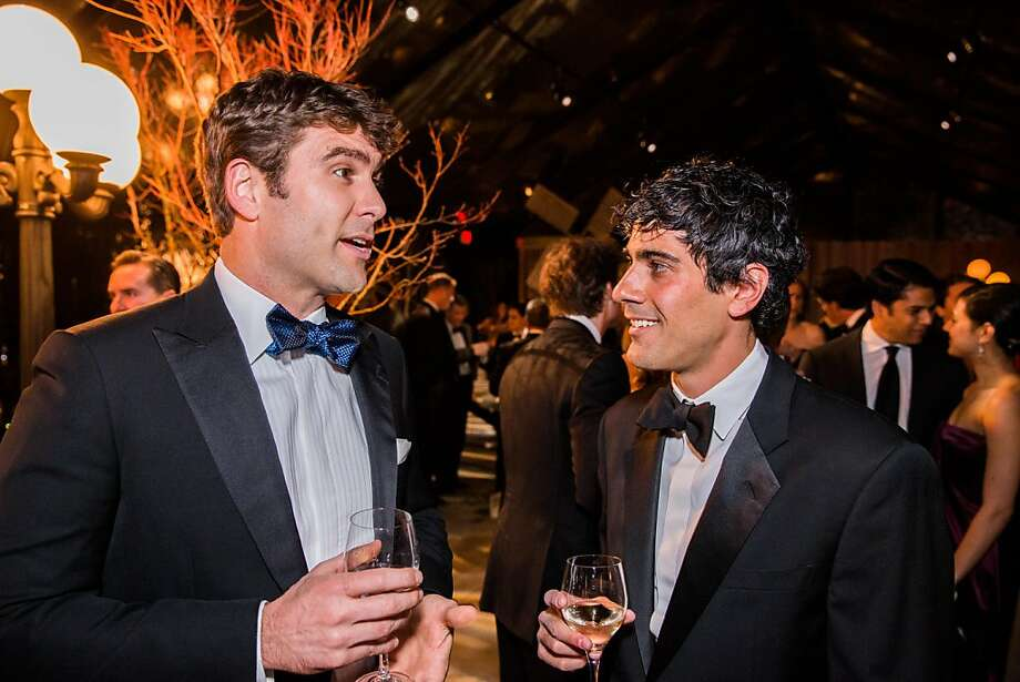Zachary Bogue and Jeremy Stoppelman at FAMSF's Mid-Winter Gala on March 09, 2013. Photo: Drew Altizer Photography