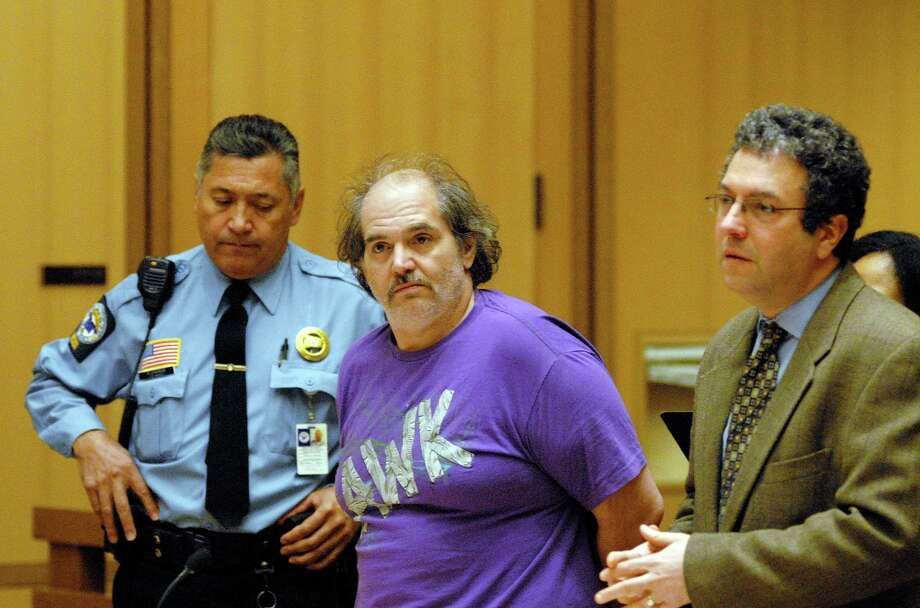 Donald Saturno, 47, of 172 Vine Road, was arrested and charged with illegal bomb manufacture. He is  arraigned at the Stamford, Conn.  courthouse on Monday March 11, 2013. Photo: Dru Nadler / Stamford Advocate Freelance