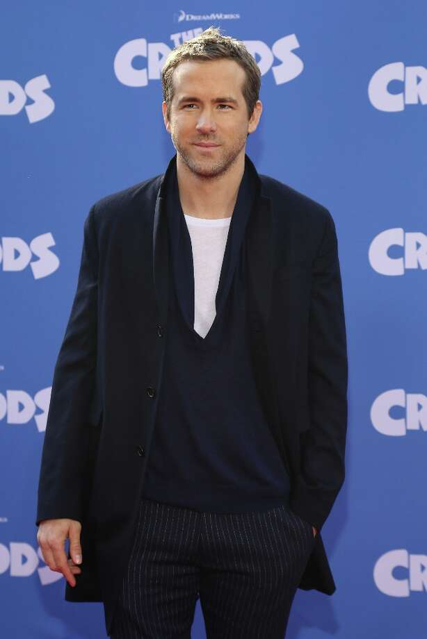 Actor Ryan Reynolds attends The Croods premiere at AMC Loews Lincoln Square 13 theater on March 10, 2013 in New York City. Photo: Neilson Barnard, Getty Images / 2013 Getty Images
