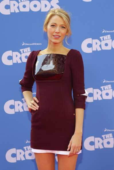Actress Blake Lively attends The Croods premiere at AMC Loews Lincoln Square 13 theater on March 10,