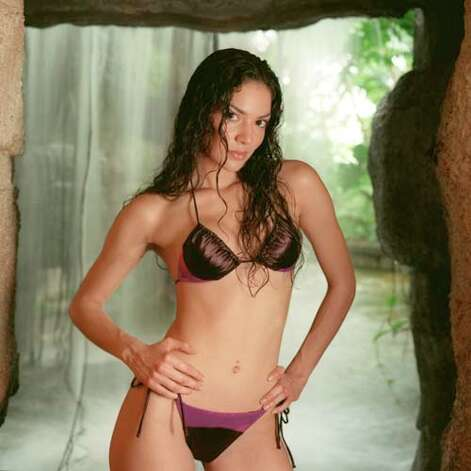 2001: A metallic purple & brown Joely Nian bikini from Nieman Marcus Photo: Smiley N. Pool, AP/Getty / Houston Chronicle