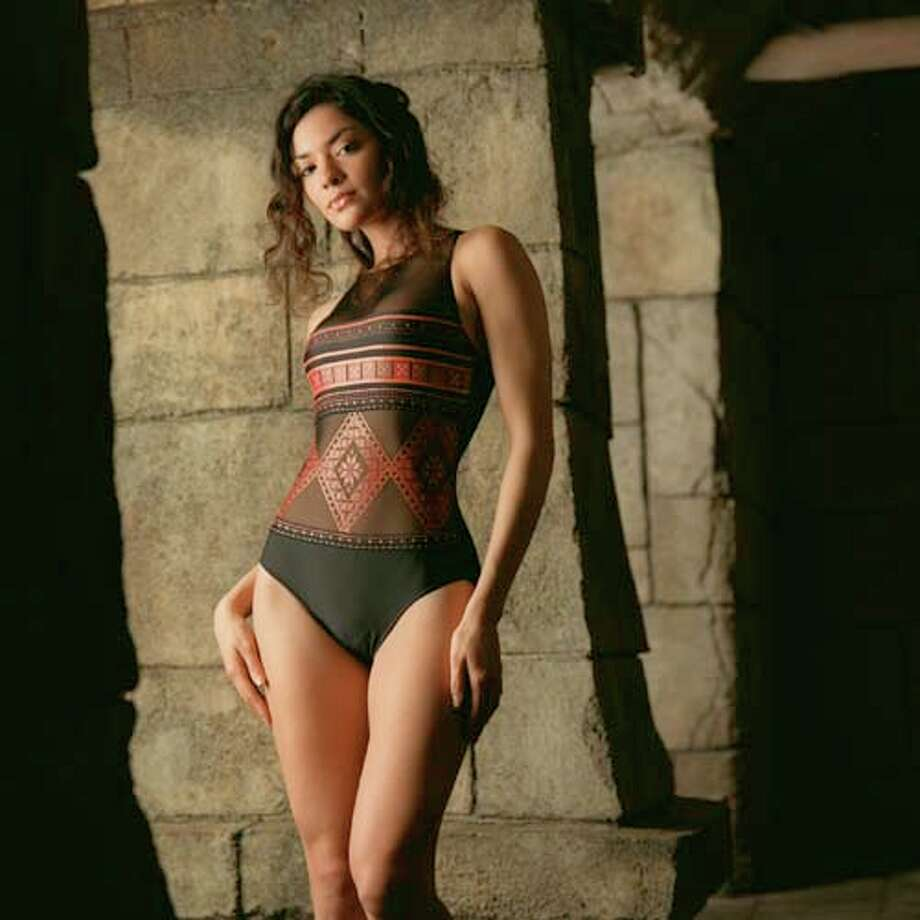 2001: CA Gottex black & tapestry one-piece  Photo: Smiley N. Pool, AP/Getty / Houston Chronicle