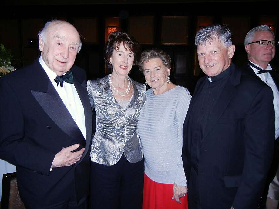 Tom Jordan (left), Sheila O'Connor Burns, Kathleen Ryan, Chaplain Rev. Mike Healy Photo: Catherine Bigelow, Special To The Chronicle