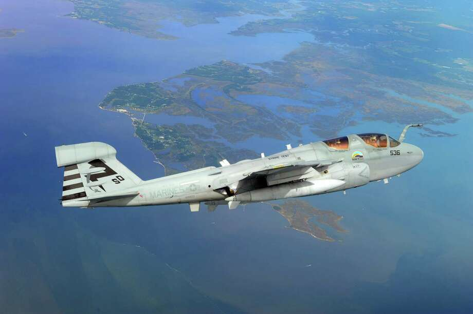FILE — An EA-6B Prowler during a test flight in Maryland. Photo: U.S. Navy / 2011 U.S. Navy