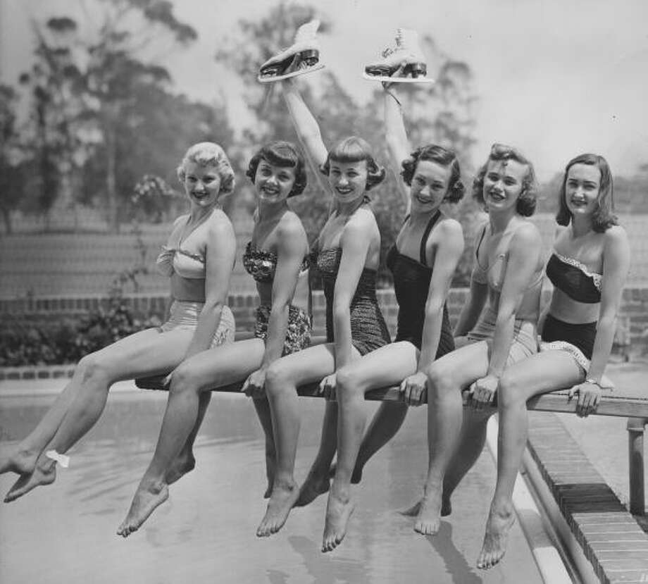 1952:Members of the 'Ice-Capades' ice-skating revue Photo: FPG, Getty / 2010 Getty Images