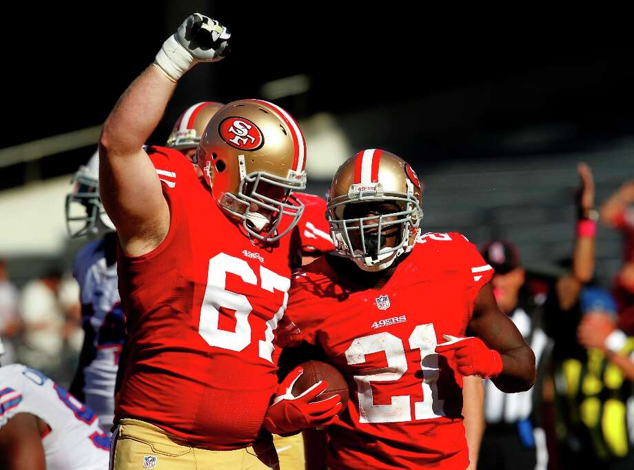 10. Guard: It seems unlikely Leonard Davis will return, so the 49ers could use a vet to take his spot. This could also aide the development of young players Joe Looney and Daniel Kilgore (seen here). A wise veteran like New York Jet Brandon Moore could be a possibility. Photo: Brant Ward, The Chronicle / ONLINE_YES