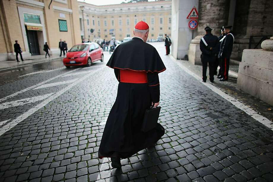 Canadian Cardinal Marc Ouellet makes his way to Vatican City on March 11, 2013 in Rome, Italy. Cardinals are set to enter the conclave to elect a successor to Pope Benedict XVI after he became the first pope in 600 years to resign from the role. The conclave is scheduled to start on March 12 inside the Sistine Chapel and will be attended by 115 cardinals as they vote to select the 266th Pope of the Catholic Church. Photo: Joe Raedle, Getty Images
