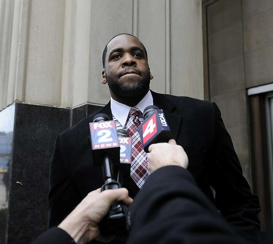 Former Detroit Mayor Kwame Kilpatrick faces 10 years in prison for racketeering conspiracy, bribery and tax crimes. Photo: David Coates, Associated Press