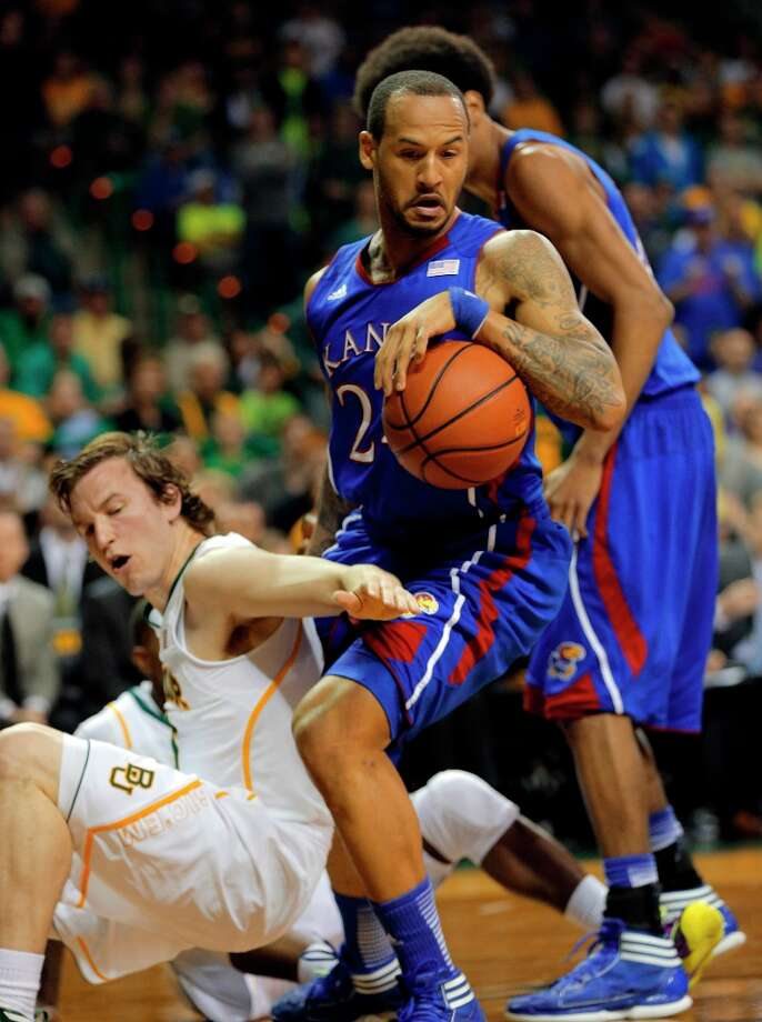 1. Kansas (26-5, 14-4)– Factoid to chew on with tournament approaching: Jayhawks haven't won a road game in regulation since beating West Virginia on Jan. 28. Photo: Rod Aydelotte, Associated Press / Waco Tribune Herald