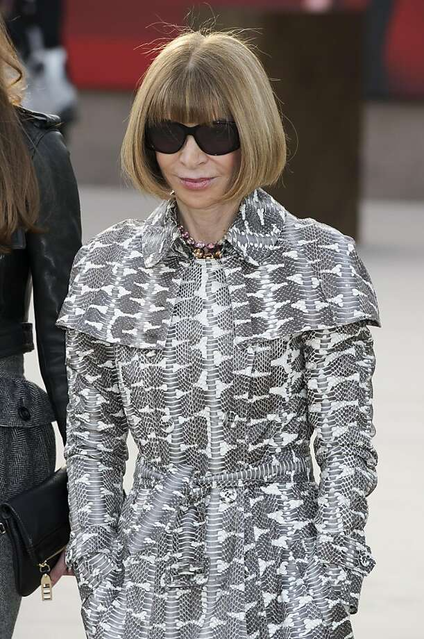 Vogue editor Anna Wintour is a front row regular. Photo: Jonathan Short, Associated Press