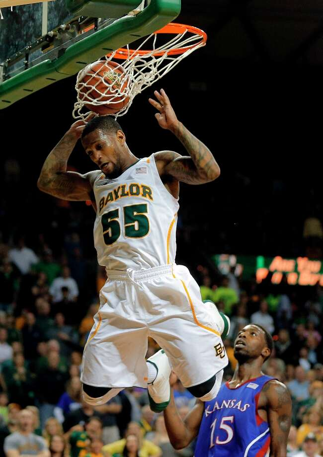 Who's hot - Baylor G Pierre Jackson: Went 11 of 13 from the field in the Bears' triumph over  Kansas. His 84.6 shooting percentage against the Jayhawks was his highest in a game with the highest in his career in a game with at least 10 shots. Jackson's game of 28 points and 10 assists was his second career 20-10 game. And he wrapped up the Big 12 leadership in points and assists, becoming the first player to lead a Big Six conference in scoring and assists in the same season since Jason Terry at Arizona in 1998. Photo: Rod Aydelotte, Associated Press / Waco Tribune Herald