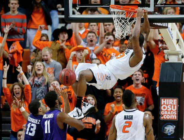 Who's hot - Oklahoma State G Marcus Smart: Put a wrap on his Big 12 Player of the Year candidacy by going for 21 points, six rebounds and six assists in the Cowboys' victory over Kansas State. Smart is averaging 22.5 points in his last two games. It marked the second time this season has produced at least 20 points, six rebounds and six assists in the same game. Photo: Sue Ogrocki, Associated Press / AP