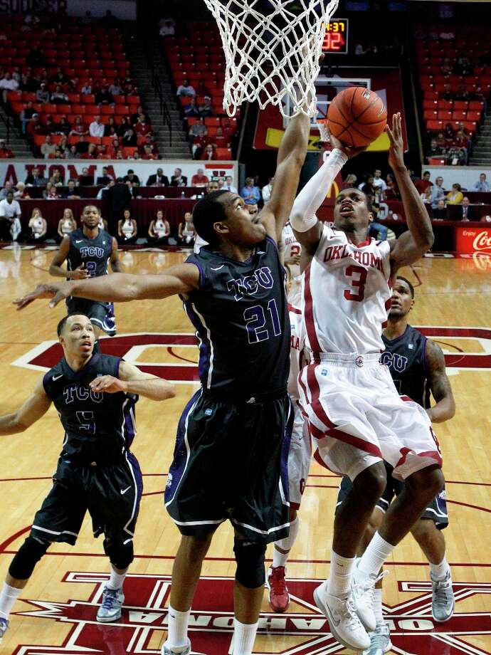Who's hot - Oklahoma G Buddy Hield:The freshman guard returned for his most extensive action since fracturing his foot last month. Hield produced 10 points, nine rebounds (eight offensive), two assists and three steals in 25 minutes before fouling out in the Sooners' loss at TCU. Photo: Sue Ogrocki, Associated Press / AP