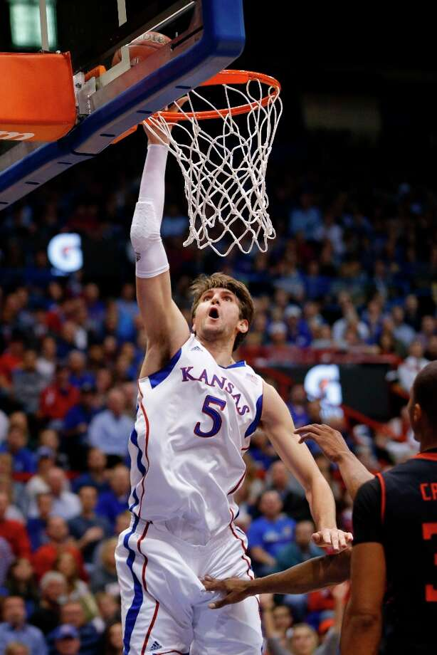 Who's hot - Kansas C Jeff Withey:Has hit 18 of his last 20 shots from the field over the last three games  (90.0 percent). Photo: Orlin Wagner, Associated Press / AP