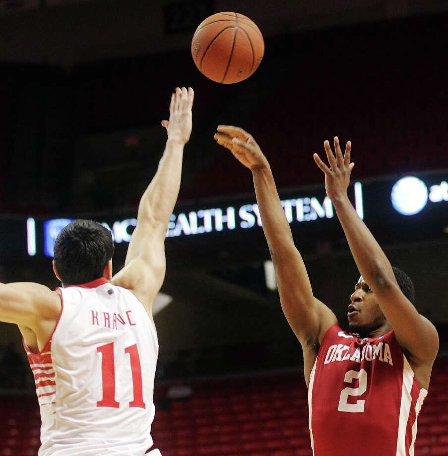Not - Oklahoma G Stephen Pledger: Matched his season low with two points on 1-for-7 shooting against TCU. Photo: Stephen Spillman, Associated Press / The Avalanche-Journal