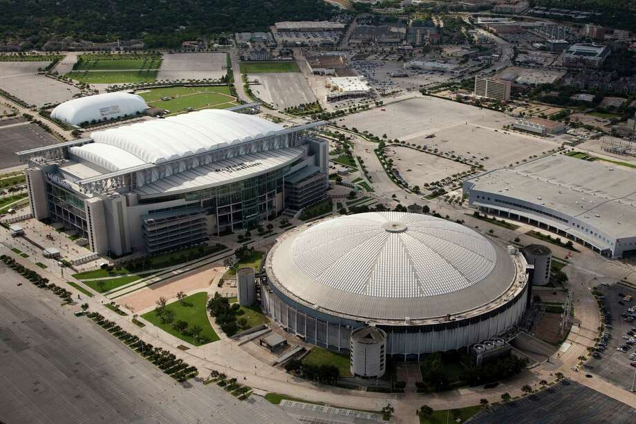 Aerial view of Reliant Park, including Reliant Stadium, the Reliant Astrodome,  Reliant Center and the Texans training facility in Houston Sunday, Aug. 16, 2009, in . ( Smiley N. Pool / Chronicle ) Photo: Smiley N. Pool, Houston Chronicle / Houston Chronicle