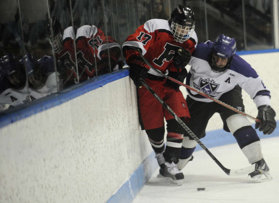 Fairfield v. North Branford Class 2 Semifinals 2013 Ice Hockey State Tournament at Ingalls Rink in New Haven, on Conn. Monday, March 11, 2013. Photo: Brian A. Pounds / Connecticut Post