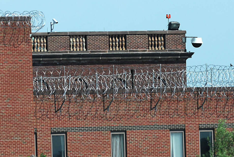 Barbed wire surrounds the exterior of the Albany County Jail in Colonie, N.Y. on Tuesday, Aug. 2, 2011.  (Lori Van Buren / Times Union) Photo: Lori Van Buren / 00014122A