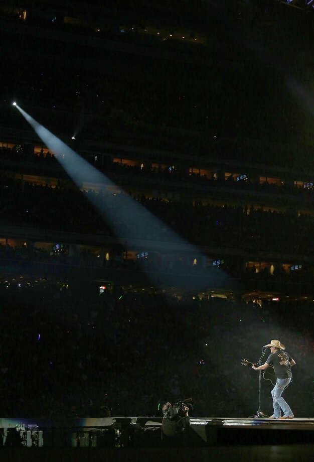3/11/13: Jason Aldean performs at Reliant Stadium in Houston, Texas. Photo: Thomas B. Shea, For The Chronicle / © 2013 Thomas B. Shea
