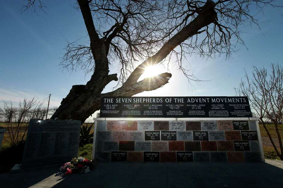 A monument for the leaders of the Seventh-day Adventist and Branch Davidian movements and the Branch Davidians who died in 1993 shares the site of the New Mount Carmel Center and the Stone Church outside Waco. Photo: Photos By Nick De La Torre / Houston Chronicle