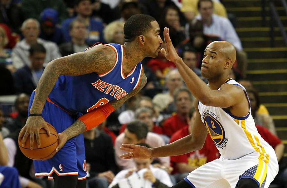 J.R. Smith and the Knicks couldn't see through the defense of Jarrett Jack and the rest of the Warriors. Photo: Beck Diefenbach, Special To The Chronicle