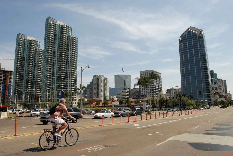 16. San Diego:An estimated 62 percent of renters are unable to afford a two-bedroom apartment at U.S. Department of Housing fair market rent. This rent requires an income of $55,280, 132 percent of median income. Photo: Mary Knox Merrill, Christian Science Monitor/Getty  / 2008 Christian Science Monitor