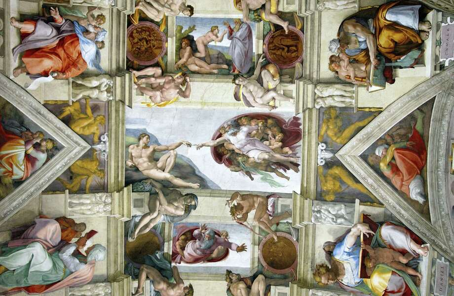Renaissance frescoes by Michelangelo in the Sistine Chapel. Photo: Javier Larrea, Getty Images / age fotostock RM
