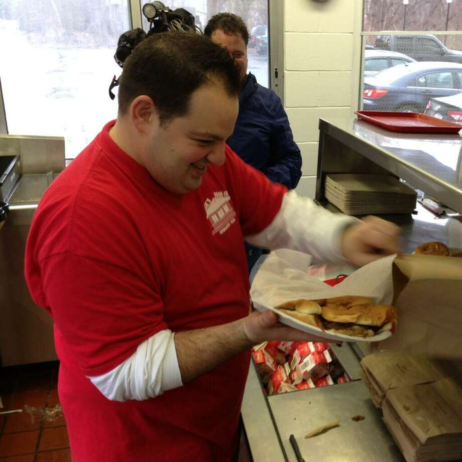 Jack's Drive In in North Greenbush, known for their sliders, is open for business. Al Deeb is the front man for the 24 Maine Ave., burger joint. (Skip Dickstein / Times Union)