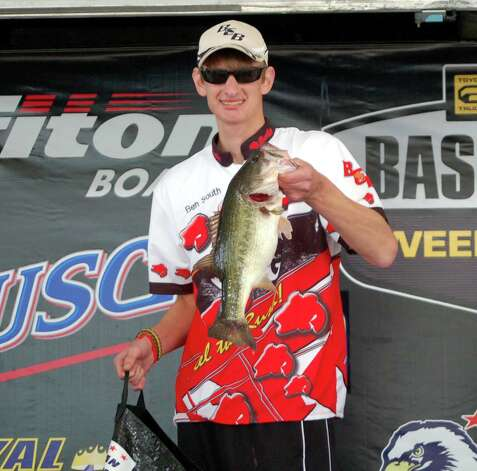High School angler Ben South took 2nd place in the co-angler division with 11.17 lbs  Photo by Patty Lenderman, Lakecaster