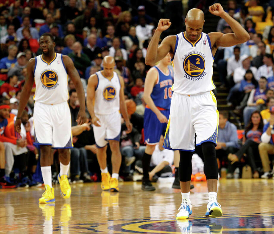 Golden State Warriors guard Jarrett Jack reacts after missing a pass and losing the ball during the fourth quarter. Photo: Beck Diefenbach, Special To The Chronicle / ONLINE_YES
