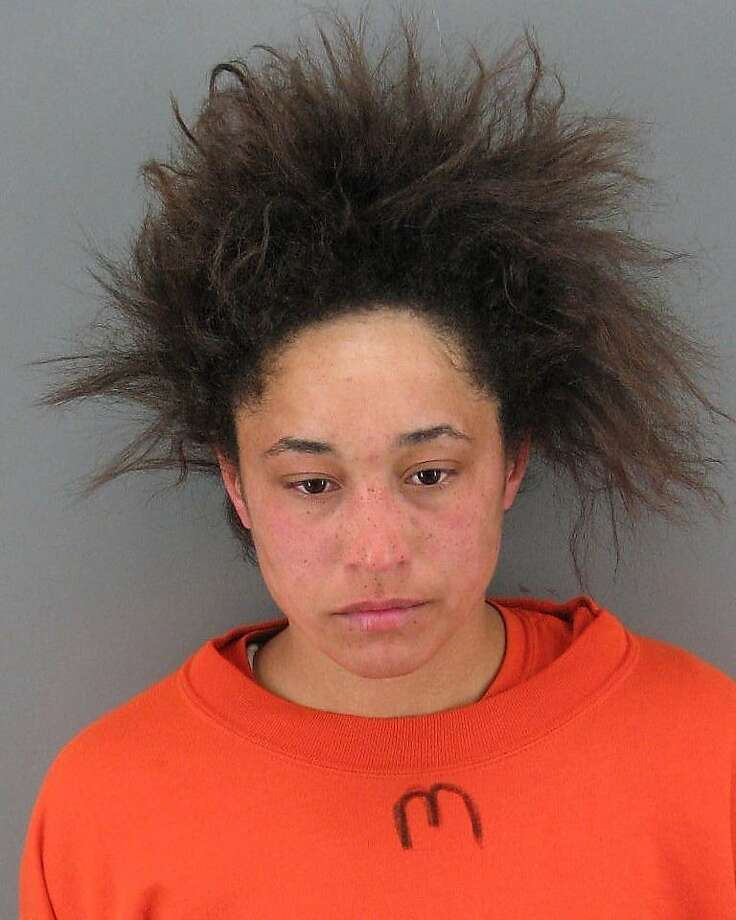 Sabryna Bell, 24, was arrested Monday afternoon after she allegedly kicked a child in the chest at a playground in Golden Gate Park. Photo: Courtesy, San Francisco Police