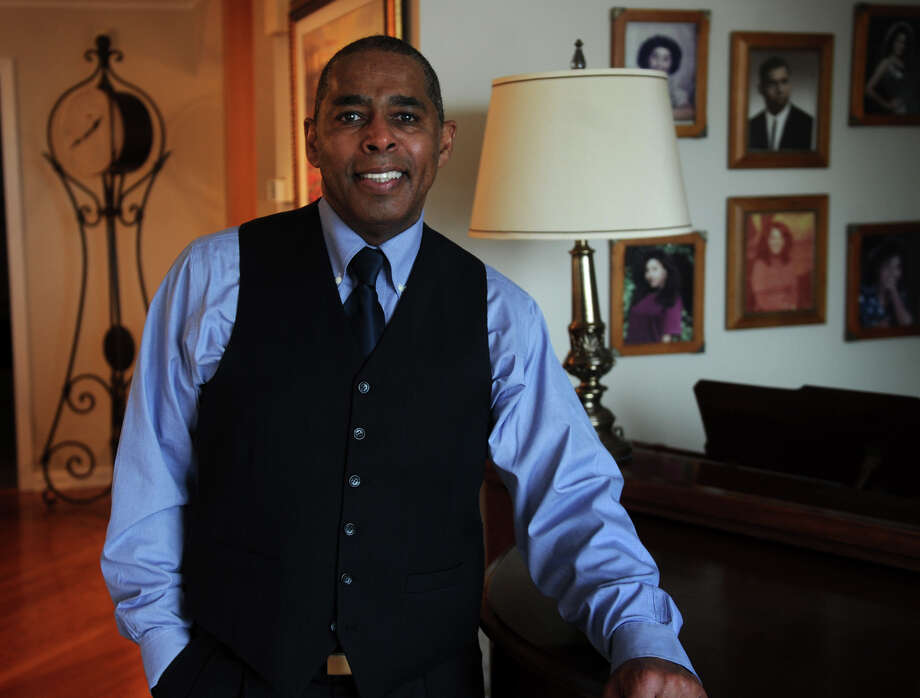 Retired banker and former Stratford High basketball standout Joe Paul in the living room of his Stratford home. Paul is planning to run for mayor on the Democratic ticket. Photo: Brian A. Pounds / Connecticut Post