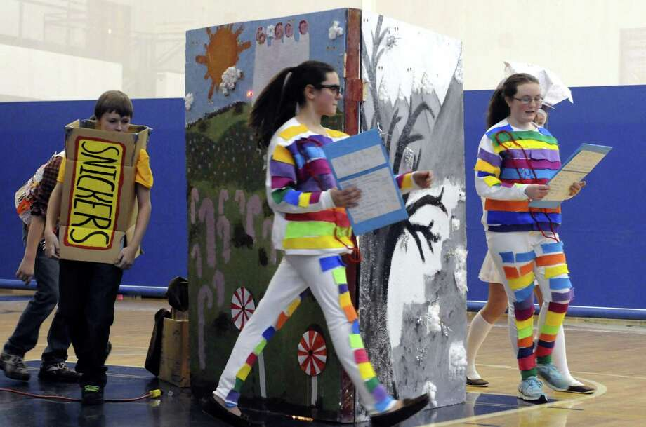 Averill Park's Algonquian middle school students compete in the Odyssey of the Mind Tournament  at Rensselaer City High School on Saturday March 9, 2013 in Rensselaer, N.Y. (Michael P. Farrell/Times Union) Photo: Michael P. Farrell
