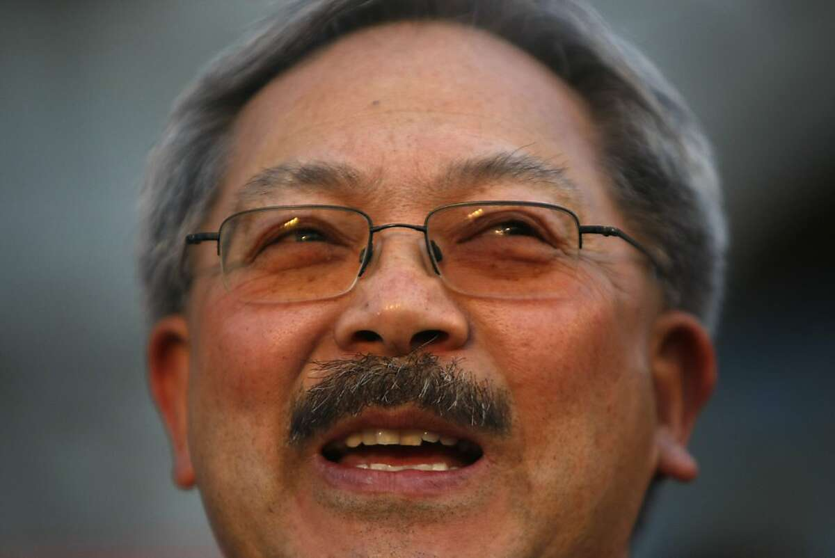 Ed Lee gives speaks during a