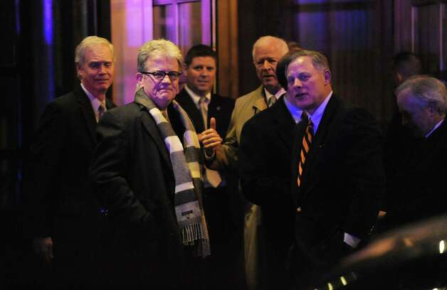 Republican senators leave the Jefferson Hotel after dining with President Barack Obama last week. Without the Democrats putting entitlement reform on the table, the president's gesture will be fruitless. Photo: Olivier Douliery, Abaca Press