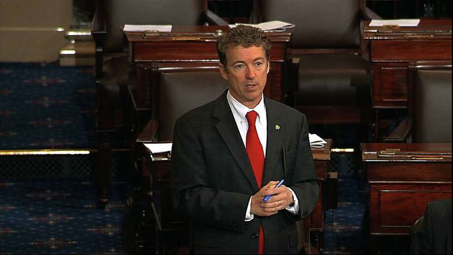 Sen. Rand Paul, R-Ky., raised legitimate questions as he temporarily blocked the confirmation of John Brennan to lead the CIA. Photo: Senate Television, Associated Press